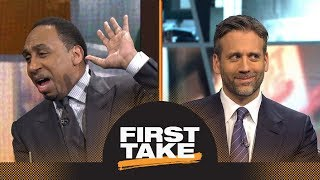 Stephen A. hilariously goes off on Max for changing take on Pelicans-Warriors | First Take | ESPN