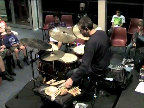 Nic Cecire opens for Sydney Drummers Initiative