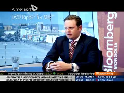 Travis Hamilton interviewed on Bloomberg TV Mongolia's Talk Time 22-Nov-2012 (Mongolian dubbed)