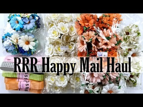 Really Reasonable Ribbon Happy Mail Haul Unboxing Polly's Paper Studio Ribbon Flowers Paper Craft