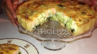 Quiche With Salmon/ Quiche Met Zalm/ Quiche Au Saumon