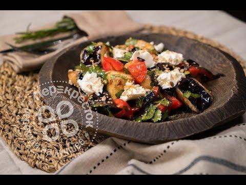 Салат с хрустящими баклажанами от ресторана Patara