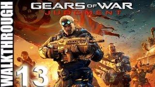 PT 13 Gears Of War Judgement Act 5 Downtown Halvo Bay Overlook Walkthrough Lets Play (HD)