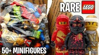 HUGE LEGO Mystery Box of 50 RARE Ninjago Minifigures! (Unboxing)