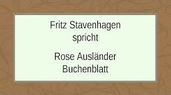 """Rose Ausländer """"Buchenblatt"""""""