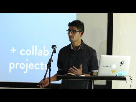 Ash Vadolia (AGDA) speaking at Collide (Perth)