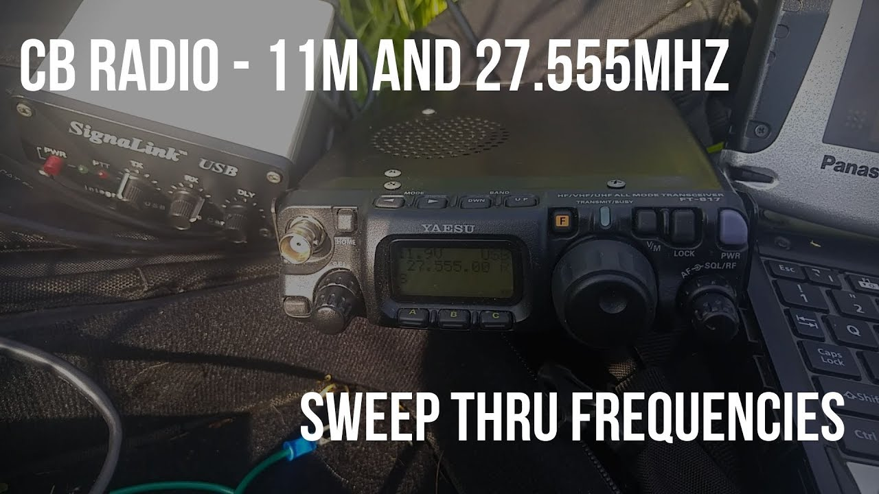 Does CB radio DX (11m) dead? Checking out pirate 27 555MHz calling  frequency!
