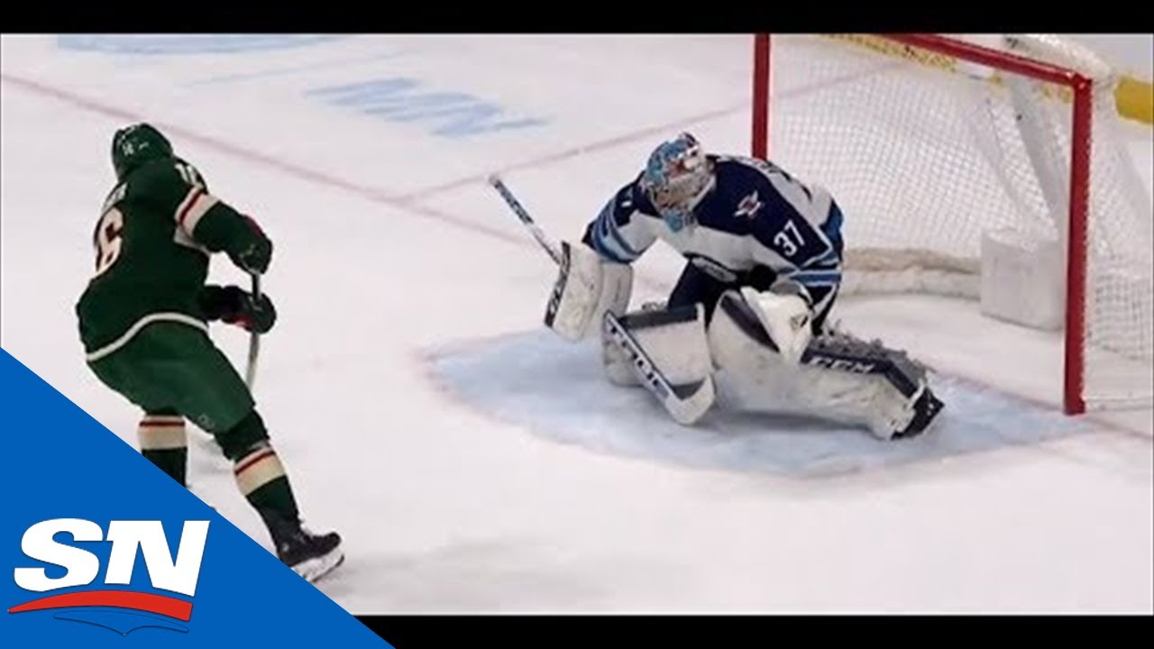 Jason Zucker Gets Out Of Penalty Box And Beats Connor Hellebuyck On Breakaway