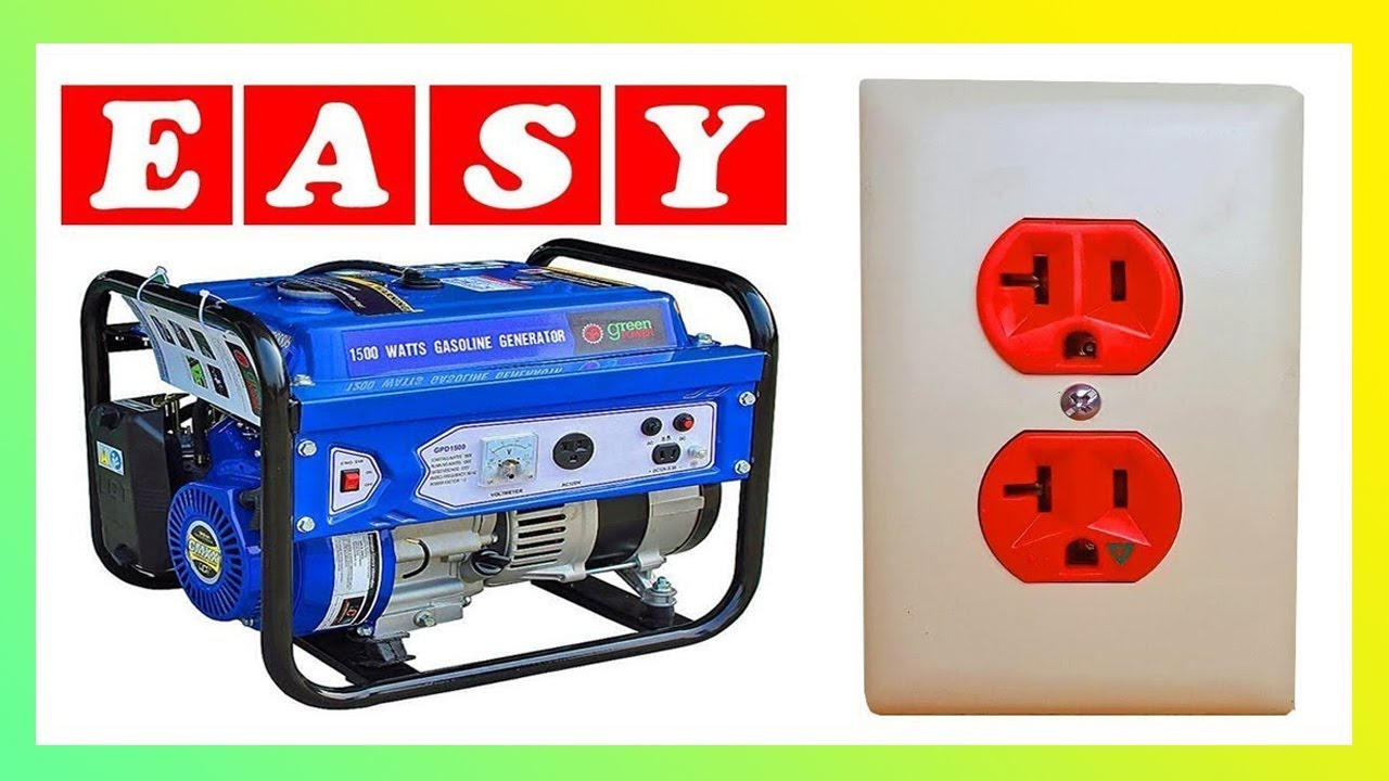 Home Electrical Wiring Generator To Dryer Outlet Diagram House Plug How Hook Up A Youtube