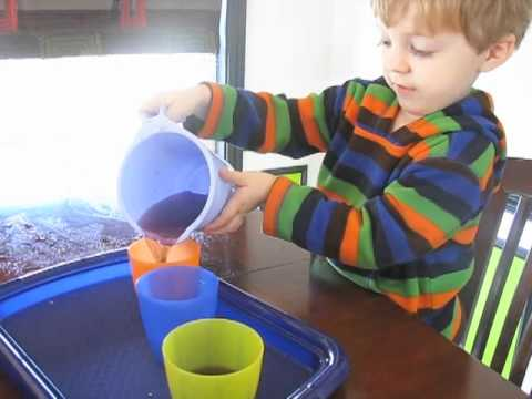Montessori Practical Life Activity Pouring Youtube