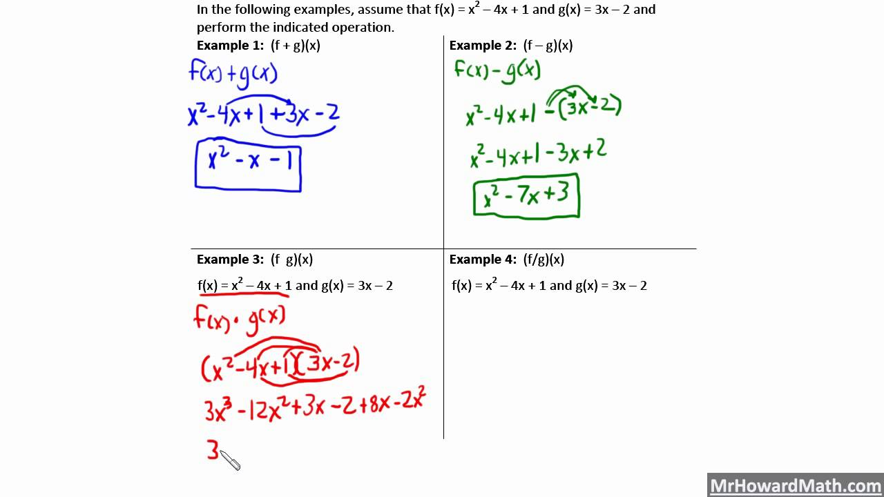 Function Operations and Composite Functions Pre-Calculus Pertaining To Composite Function Worksheet Answer Key