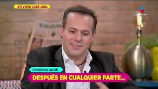 ¡José Joel desenmascara a las 'Saras', recuerda la muerte de José José y desmiente a Sergio Mayer!