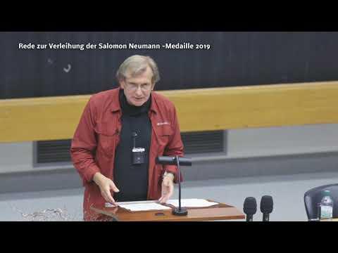 Dr Trabert REDE nach Erhalt der Salomon Neumann Medaille