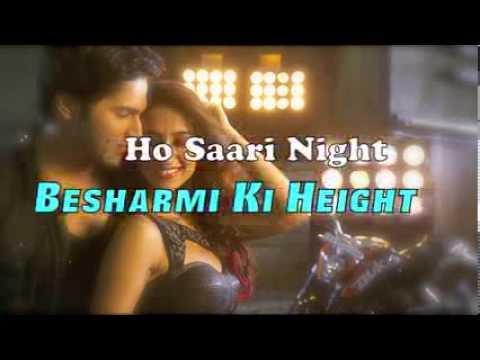 Besharmi Ki Height Full Song (Lyrics) Main Tera Hero | Varun Dhawan, Ileana D'Cruz, Nargis Fakhri