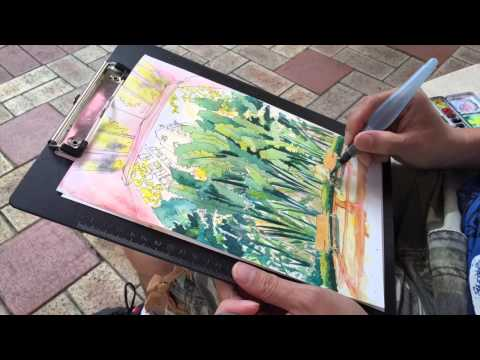 Sketching in a Residential Garden