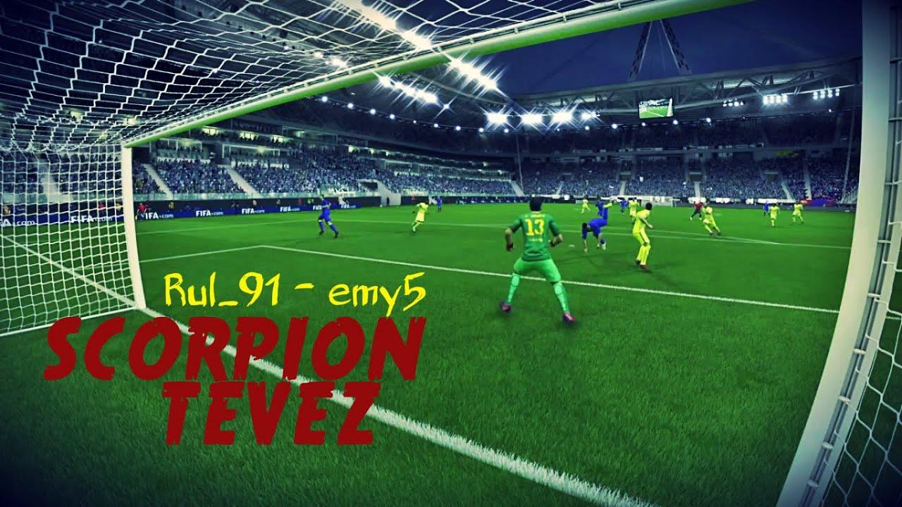 Golazo de escorpión TEVEZ   FIFA 15 - YouTube