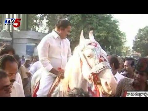 MLA Thota Trimurthulu Horse Riding : TV5 News