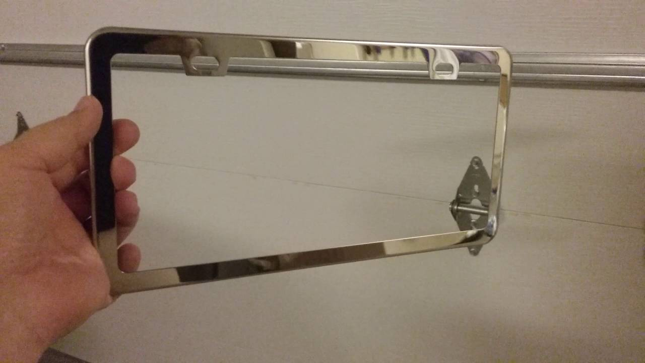 Ohuhu License Plate Frame - Stainless Steel - YouTube