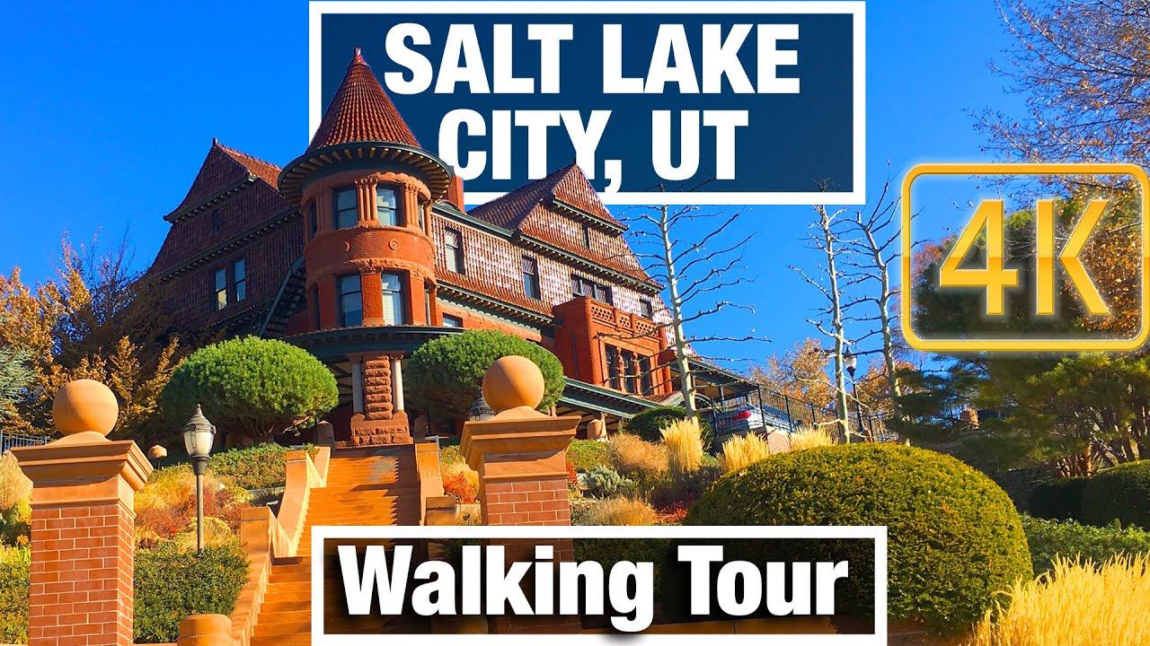 4K City Walks: Salt Lake City Capitol Hill Downtown Tour - Virtual Walk Walking Treadmill Video