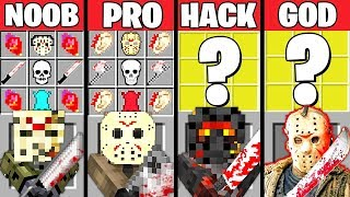 Minecraft Battle: JASON MONSTER MUTANT CRAFTING CHALLENGE - NOOB vs PRO vs HACKER vs GOD ~ Animation