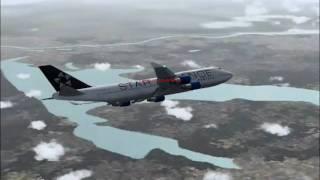 United Airlines Flight 376 Arrives Tokyo,Narita (FS2004)