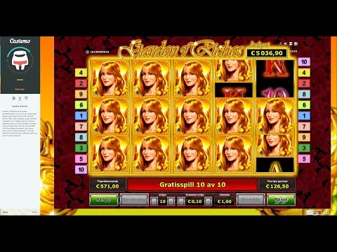 SUPER BIG WIN - Garden of Riches, good trigger and good free spins!
