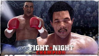 Fight Night Champion XB1X in 2018 4K !!! 🥊Mike Tyson Punches Out Young George Foreman😴