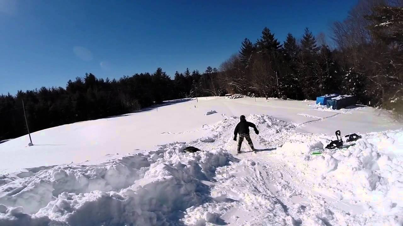 Backyard Terrain park and Mount Sunapee edit - YouTube