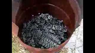 How To Make Homemade Charcoal Charwood and Blacksmith's Coal DIY