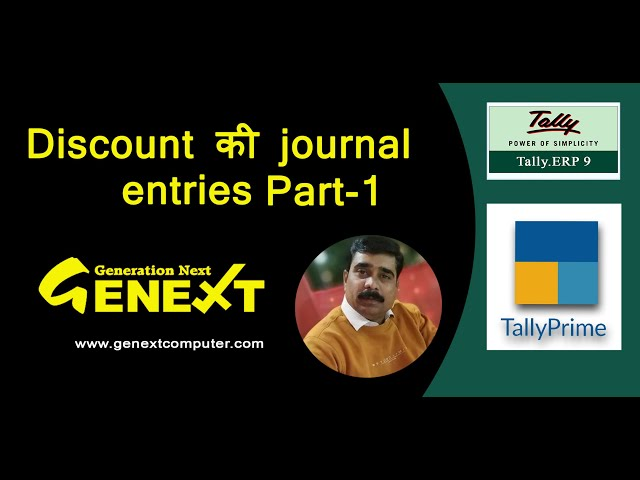 How to calculate Discount in accounting in Tally part-1