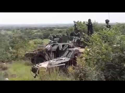 Ghanaian Army Test Firing the Ratem Infantry Fighting Vehicle in a Training Exercise