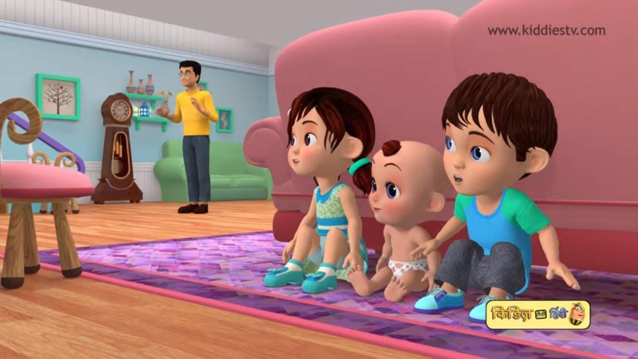 Hide and Seek Song in Hindi   लुका छिपी बालगीत हिंदी में   Top 3D Hindi Rhymes   Kiddiestv Hindi