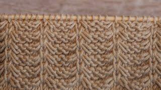 Узор «Француские шторы» спицами 🎋 «Curtains» knitting pattern