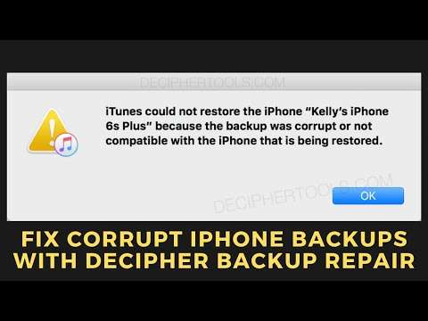 Fix Corrupt iPhone Backups with Decipher Backup Repair
