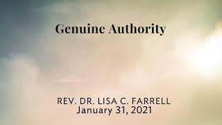 Genuine Authority   Jan 31
