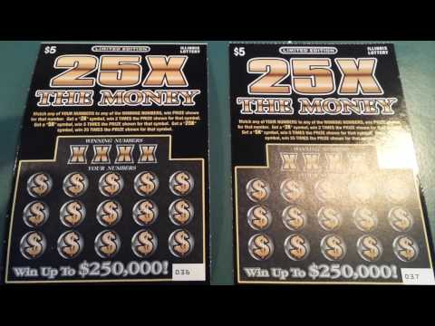 """NEW """"25X THE MONEY"""" SCRATCH-OFFS FROM THE IL. LOTTERY!!!"""