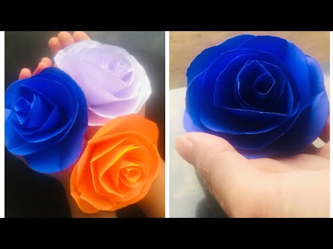 simple,cute and beautiful roses 🌹🌹/how to make paper flowers