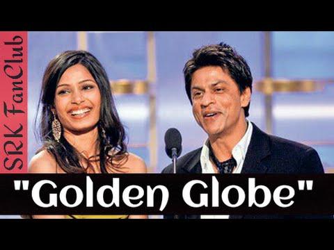 Shahrukh Khan ( SRK ) at Golden Globe awards along with Freida Pinto - Slumdog millionaire