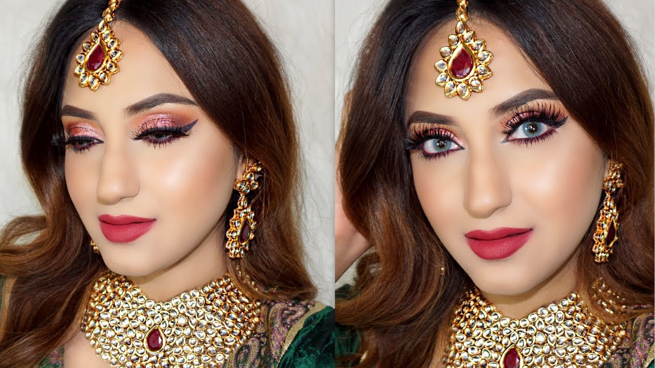 Bridal indian makeup natural look