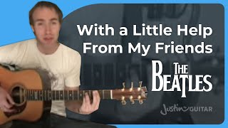 Help From my Friends - Beatles (Songs Guitar Lesson ST-605) How to play