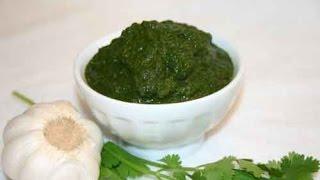 Coriander &amp Garlic Chutney  Show Me The Curry Vegetarian Recipe