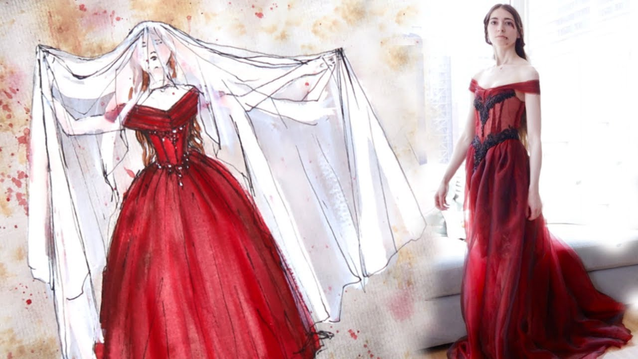 Masque Of The Red Death Ballgown Making Process Youtube