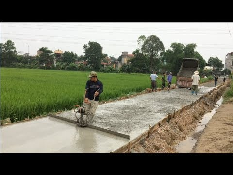 Concrete Road Construction Technology With Modern And Innovative Equipment - Construction Works