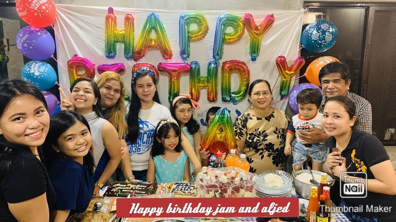 Happy birthday jam jam and aljed |Martinez playtime