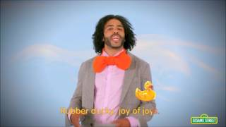 daveed diggs singing rubber duckie but everytime duckie is uttered it gets faster