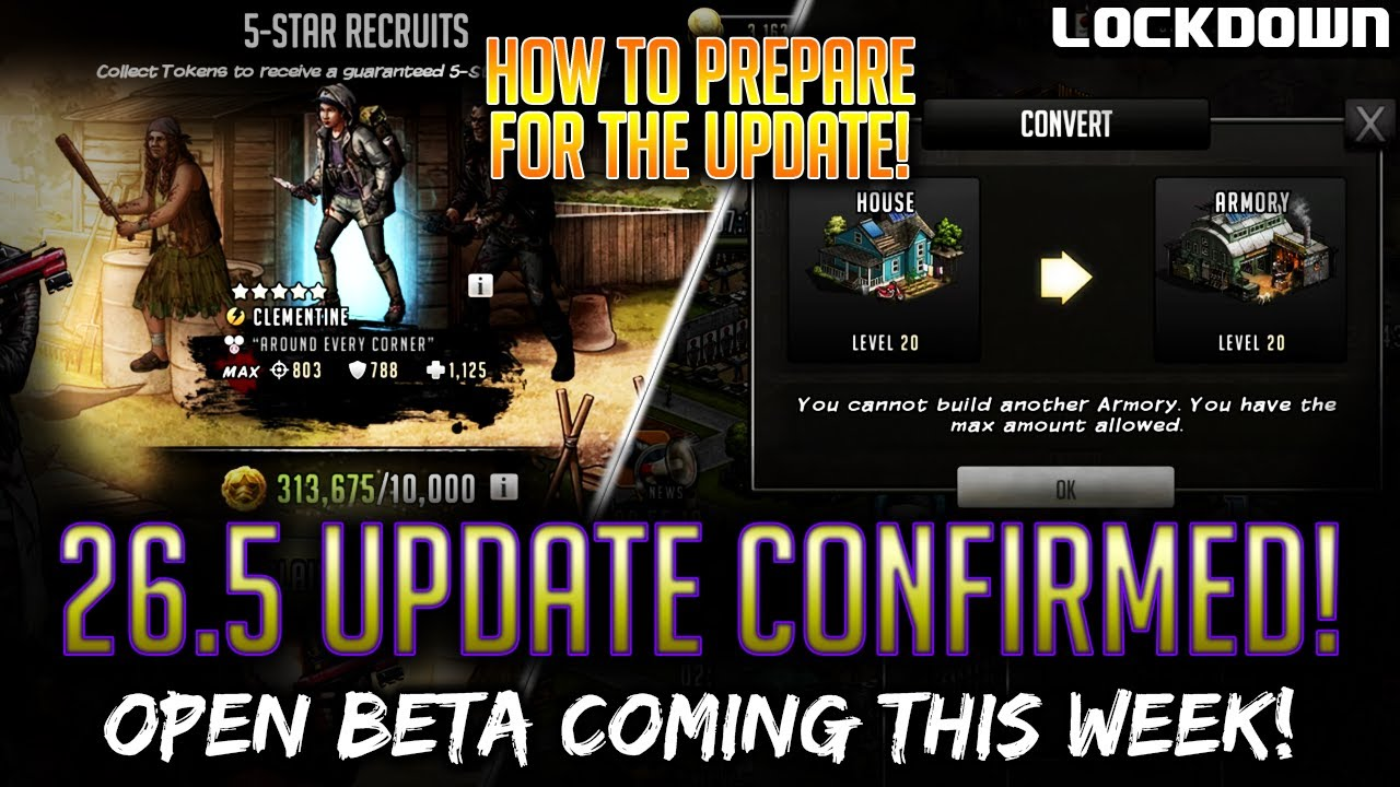 TWD RTS: 26.5 Update Confirmed THIS WEEK! How to Prepare! The Walking Dead: Road to Survival Tips