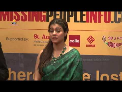Kajol Launched Official Website Missingpeopleinfo.Com