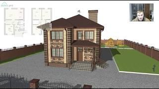 Проект компактного двухэтажного дома на 4 спальни «Губкин»  B-320-ТП