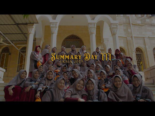 SummaryDay 3 LKMA 2019