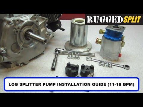 How To Install RuggedMade Log Splitter Pump 11GPM 16GPM